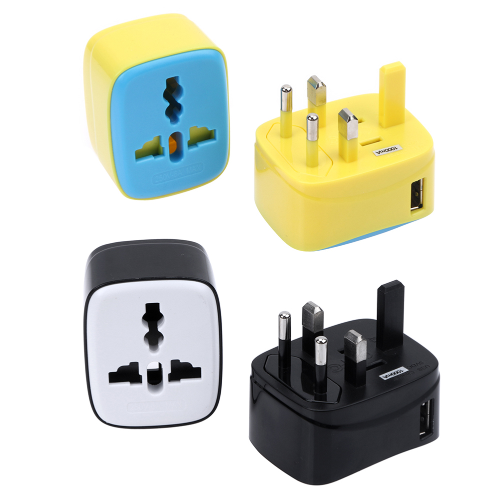 International Plug Adapter Multifunction Universal PC SL191 100V-250V 1A Travel Power Adapter Converter Travel Plug Adapter