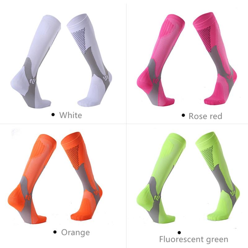compressão tecido poliéster meias longas no joelho