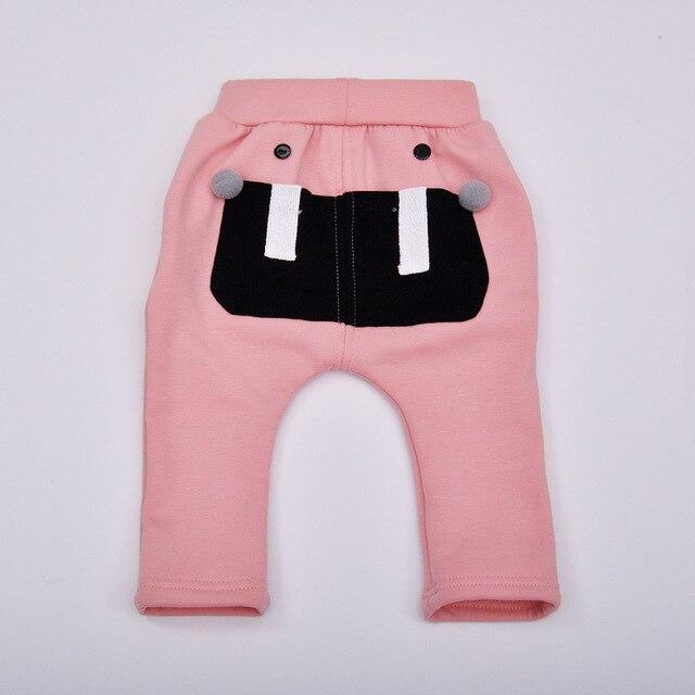 2016 новая зимняя одежда Утолщение Плюс бархат согреться Детские брюки девочка и мальчик женский PPpants новорожденного брюки