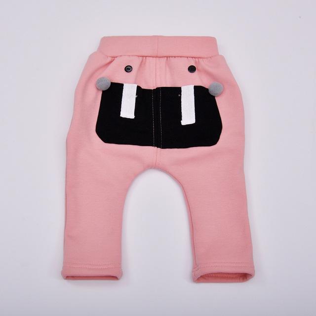 2016 novas roupas de inverno Espessamento Além de veludo Manter aquecido calças Do Bebê bebê menina e menino PPpants feminino calças do bebê Recém-nascido