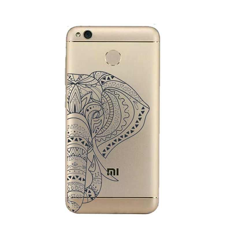 פיל רך נקה TPU מקרה טלפון xiaomi redmi 4x 4a note5a note4x 5S 5S mi6 note3 פלורה Coque מודפס כיסוי משלוח חינם