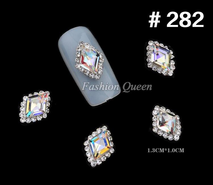 5 stks Nieuwe Topkwaliteit Glitter Rhinestone Luxe 3d Legering Nail - Nagel kunst - Foto 6