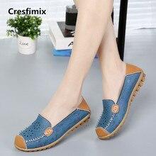 Cresfimix sapatos femininas women leisure floral hollow out breathable