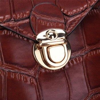 Osmond Silver Mobile Phone Mini Bags Small Clutches Shoulder Bag Crocodile Leather Women Handbag Black Clutch Purse Handbag Flap 6