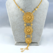 65CM Africa Necklace Women – Gold Plated Middle Eastern Necklace Arab Jewelry Indian/Egypt/Nigeria/Ethiopian Chain #001912