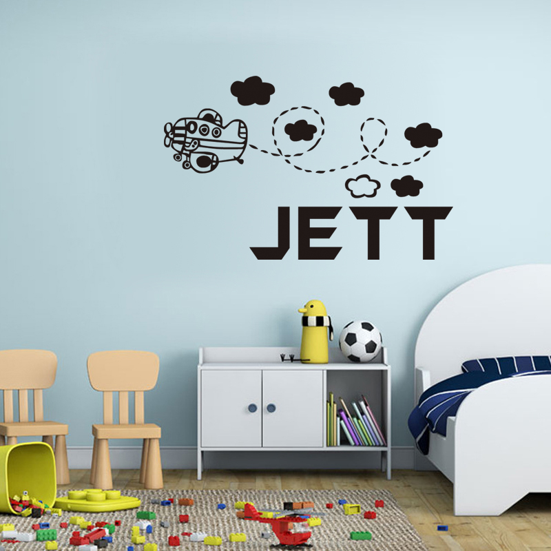 custom name butterfly personalized wall decal girl bedroom vinyl lettering nursery living room decoration removable wallpaper