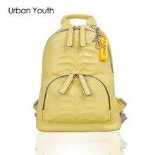 Городской молодежи модные дизайнерские рюкзаки для девочек-подростков Высокое качество большая емкость Искусственная кожа женщины рюкзак Mochila feminima