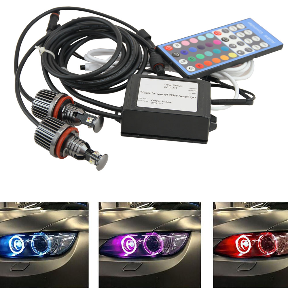 Фото High power h8 36w angel eye led marker with USA CREE Chip LED ANGEL EYES RGB color change E87/E82 /E92/E93/E70 X5/E71 X6 for bmw. Купить в РФ