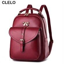 Clelo женщины рюкзак искусственная образец литчи сумки и ткань рюкзак для подростков топы для девочек-ручка Рюкзак Женщины Дорожная сумка