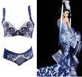 2015 moda de alta qualidade estilo chinês Push up Bras mulheres Lingerie de renda bordado Sexy conjunto de sutiã Lingerie Intimates H084