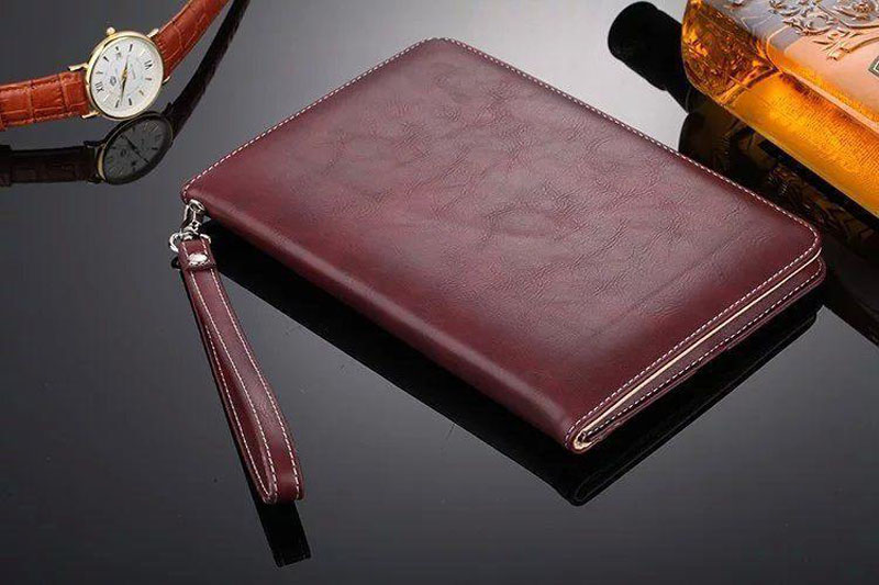 Luxury Leather Case For iPad Air 2 Air 2 Hand Holder Strap Business Book Cover For Apple ipad 2017 2018 Smart Protective Case (3)