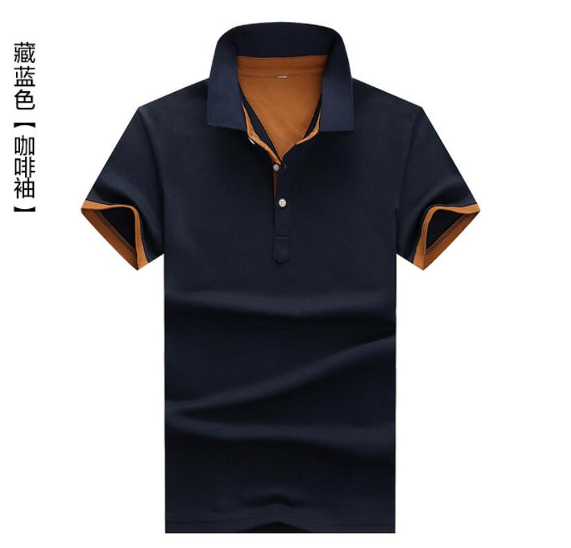 2019 New PP55219 Men Summer   Polo   Shirt 2019 Brand Men's Fashion Cotton Short Sleeve Shirts Male Solid Jersey Breathable Tops Tee