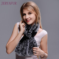 New Winter Scarf Neck Warm Scarf For Women Real Natural High Quality Short Style Rabbit Fur