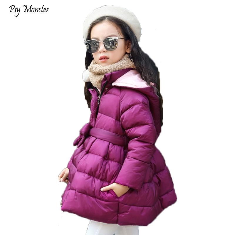 2018 Winter New Girls Feather Clothes Children's Lon Thickening Down Jackets Girls Prince Fashion Hooded Parka Coats Outwear