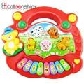 Baby Kid's Electrical Farm Animal Sound Keyboard Piano Developmental Music Toy Gift High Quality Random Color
