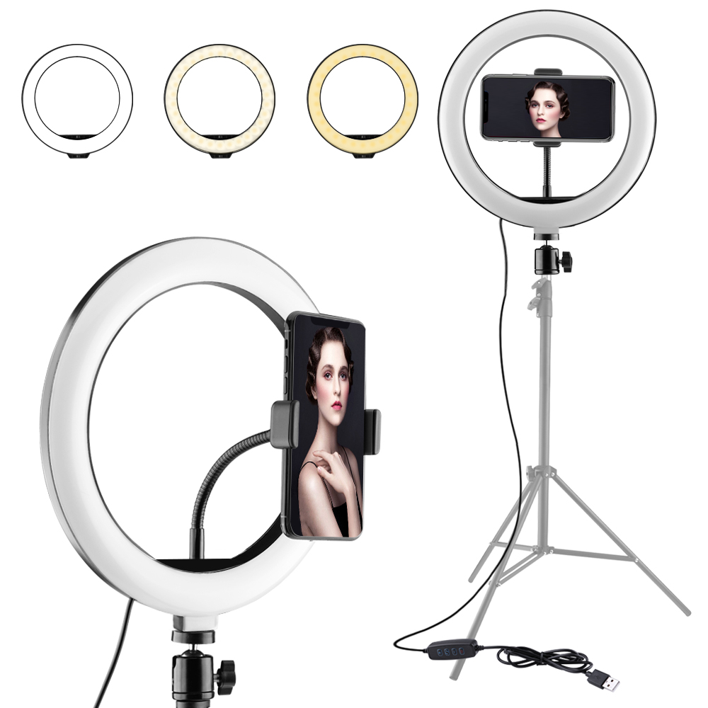 Photography Dimmable Tycipy LED Selfie Ring Light Studio Photography Photo Fill Ring Light for iphone Smartphone Makeup in Drone Accessories Kits from Consumer Electronics