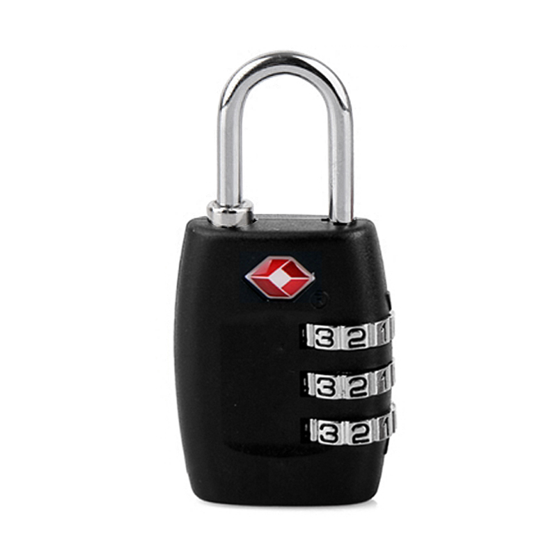 New Travel Lock TSA Resettable 3 Digit Combination Lock Padlock For Luggage Zipper Bag Handbag Suitcase Drawer Cabinet vintage suitcase 20 26 pu leather travel suitcase scratch resistant rolling luggage bags suitcase with tsa lock
