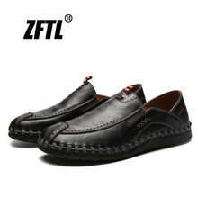 ZFTL New Men Loafers Casual Leather shoes Man Slip-on Driving shoes Business Leisure shoes British style Spring Single shoes 019 hot 2016 spring new brand men s shoes british style breathable men casual shoes black and white slip on man leather pu shoes