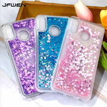 Liquid Glitter Silicone Case For Huawei Honor 8C 6.26 Phone Cases On sFor Coque 8 C BKK-L21 Cover