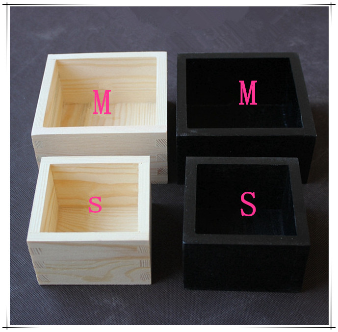 Multifunction Wooden Storage Box Wood flower pots Wood small parts box plywood