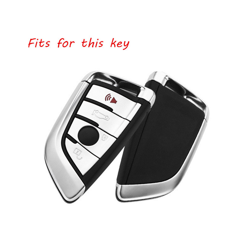 Aluminum-Alloy-Car-Key-Cover-Case-Fob-Frame-For-BMW-520-525-730li-740-118-320i