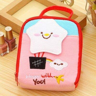 Cute cartoon cotton cloth bag cosmetics small department store storage 13*14*6cm