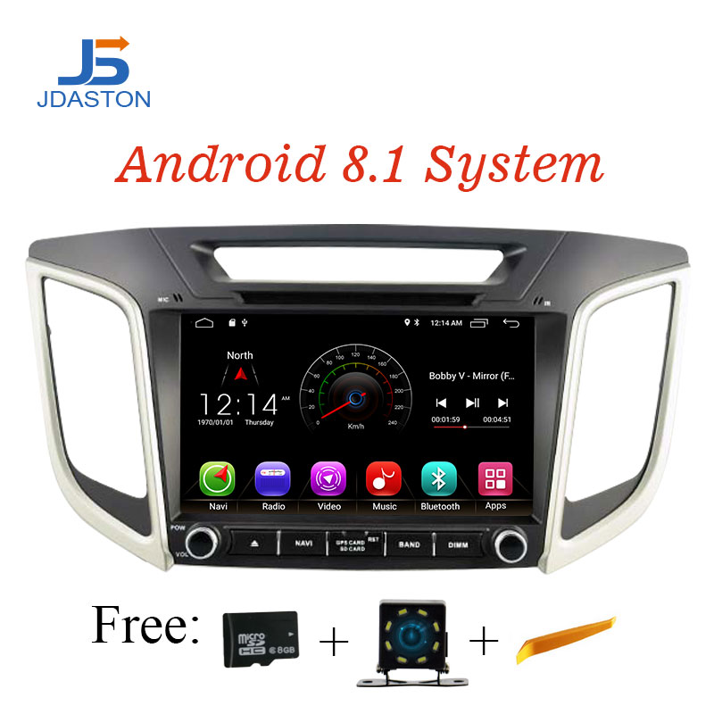 JDASTON 9 Inch Android 8 1 Car DVD font b Player b font For Hyundai Creta