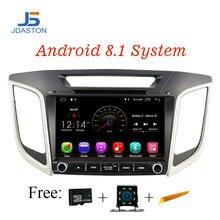 JDASTON 9 дюймов Android 8,1 автомобильный dvd-плеер для hyundai Creta ix25 2014-2018 gps навигация 2 Din автомобиль радио стерео Мультимедиа wifi