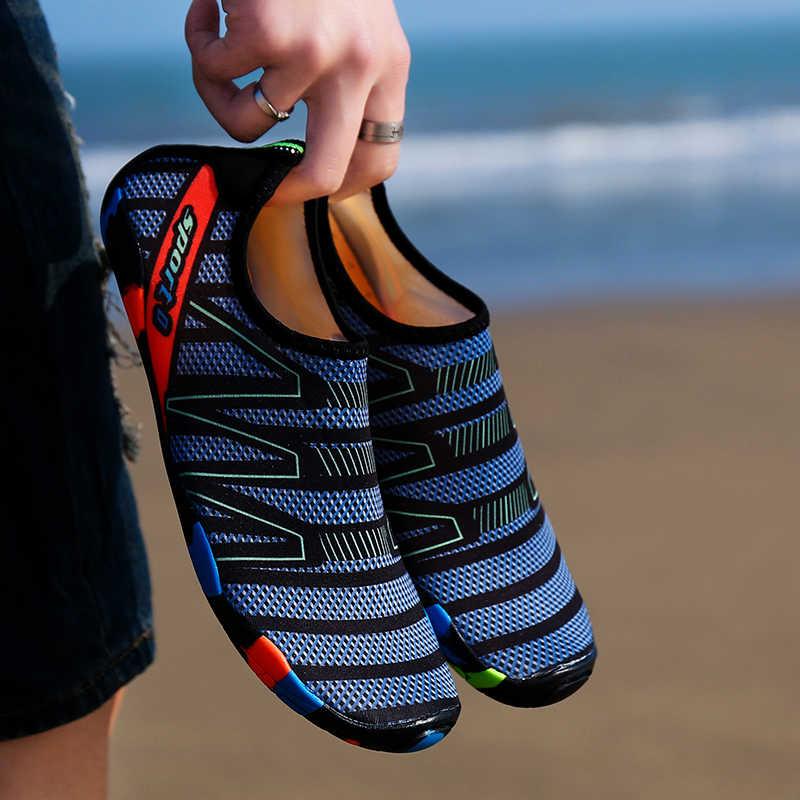 Lage prijs Comfortabele Platte Zachte Seaside sneakers Strand Schoenen Outdoor mannelijke Zwemmen Schoenen Vrouwelijke Ademend Volwassen Wandelschoenen