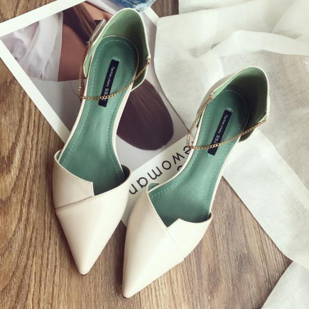 High heels, female tip, sexy chain, word for word, and the new hollow banquet women's shoes in the spring and summer of 2018. боборыкина т театр эйфмана иное пространство слова eifman ballet another realm for the word