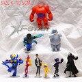 Бесплатная Доставка Симпатичные 9 шт. Большой Герой 6 Baymax Робот Фигурки Детей Игрушки Подарки ПВХ Модель Коллекция Игрушек (9 шт. за комплект)