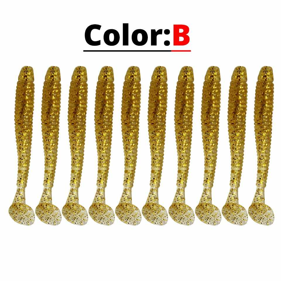Yuewins 5pcs Wobblers Soft Bait 45mm 0.7g T tail Swimbaits Artificial Silicone Fishing Lures 10 Colors Bass Soft Fish QA1009A