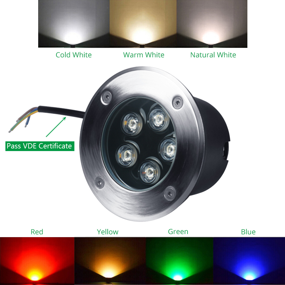 Image 4 - Floor Lamp LED Stair Lights 3W 5W 7W 9W 12W 15W 18W 24W 36W 85 265V 12V Recessed Deck Inground Garden Outdoor Lighting 10pcs/lot-in LED Underground Lamps from Lights & Lighting