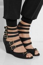Frauen Damen Wedages Plus Größe 2015 Sommer Stil Frauen Keile Chaussure Femme Schnalle Led Schuhe Für Frauen Günstige Sexy schuhe