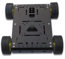 Умный автомобиль шасси/4 wd автомобиля/трассировка избегание робот препятствием автомобиль для arduino цвет Черный