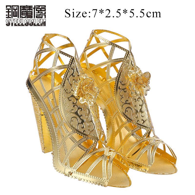 Piececool Fun 3D Nano Puzzle Metal Jigsaw High Heeled Sandal Models  Educational Toys For Children Adult Friend Birthday Gifts b795e99b14c5