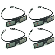 4 sztuk 3D okulary aktywne migawki do projektora Optoma Sharp LG Acer do projektora BenQ Acer Dell do projektora Vivitek G15-DLP DLP-LINK DLP Link projektorach tanie tanio Wciągające Brak NoEnName_Null Okulary Tylko Pakiet 1 3D Glasses
