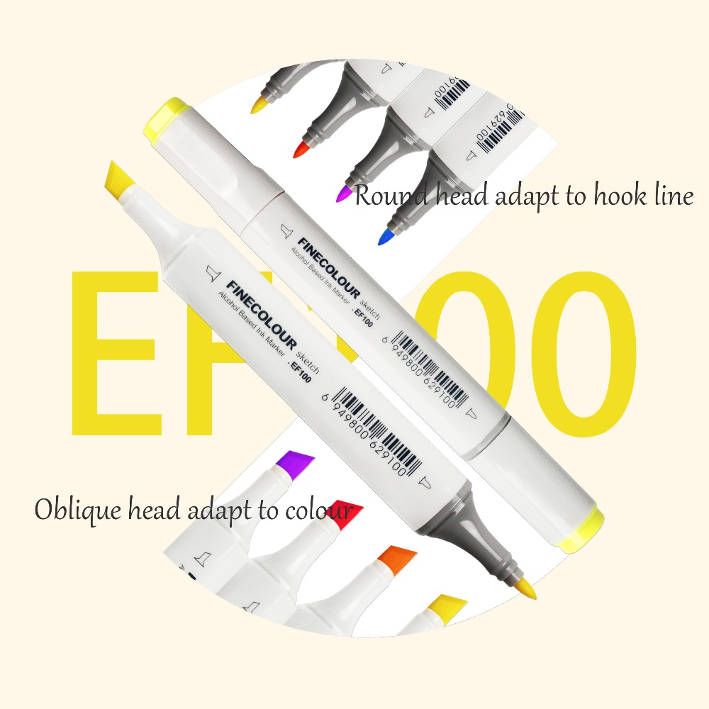 Finecolour EF100 240 Colors Alcohol Based Ink Double based Professional Sketch Art Markers With Bag