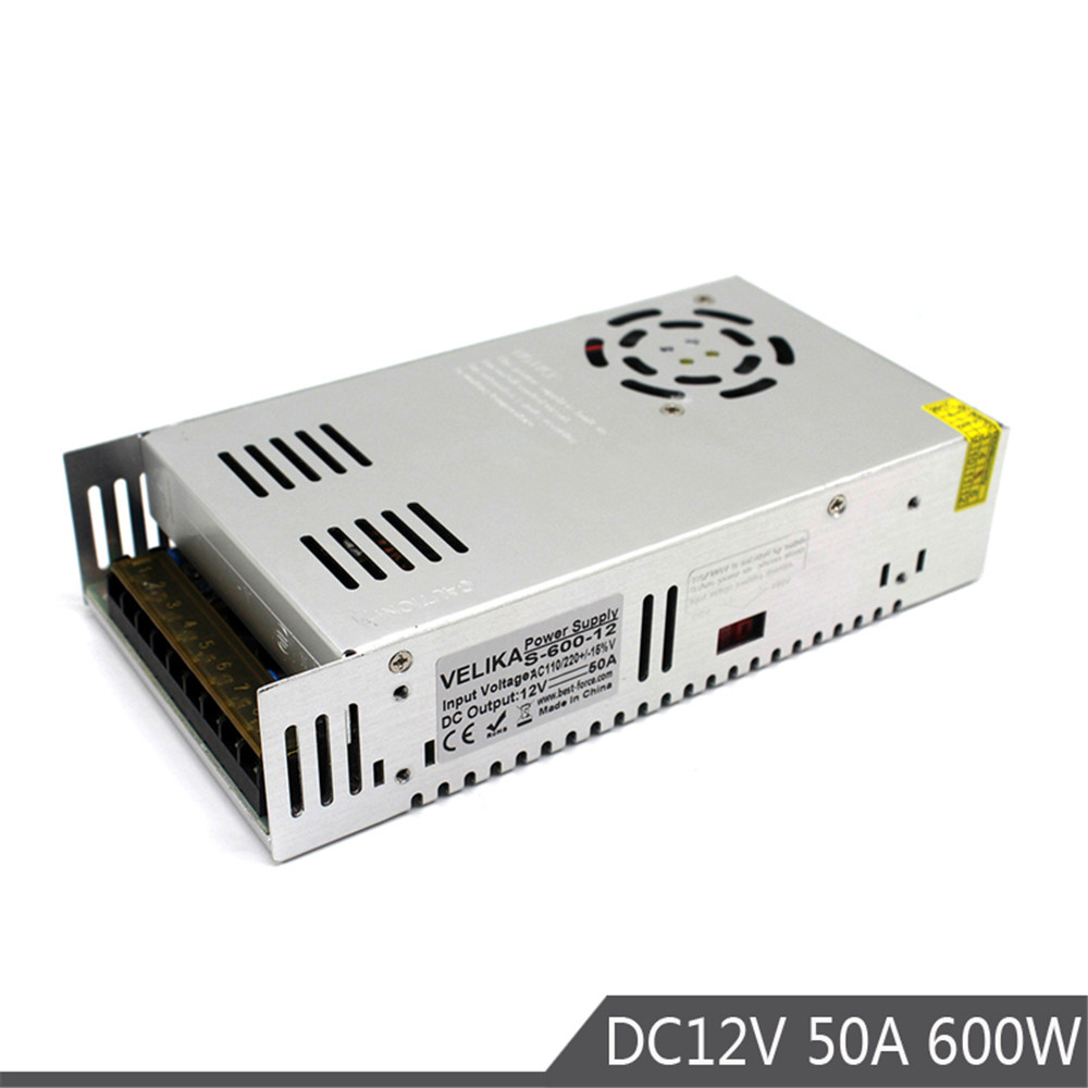 600W 12V 50A Single Output Small Volume power supply Switching Transformers AC110V 220V TO DC12V SMPS