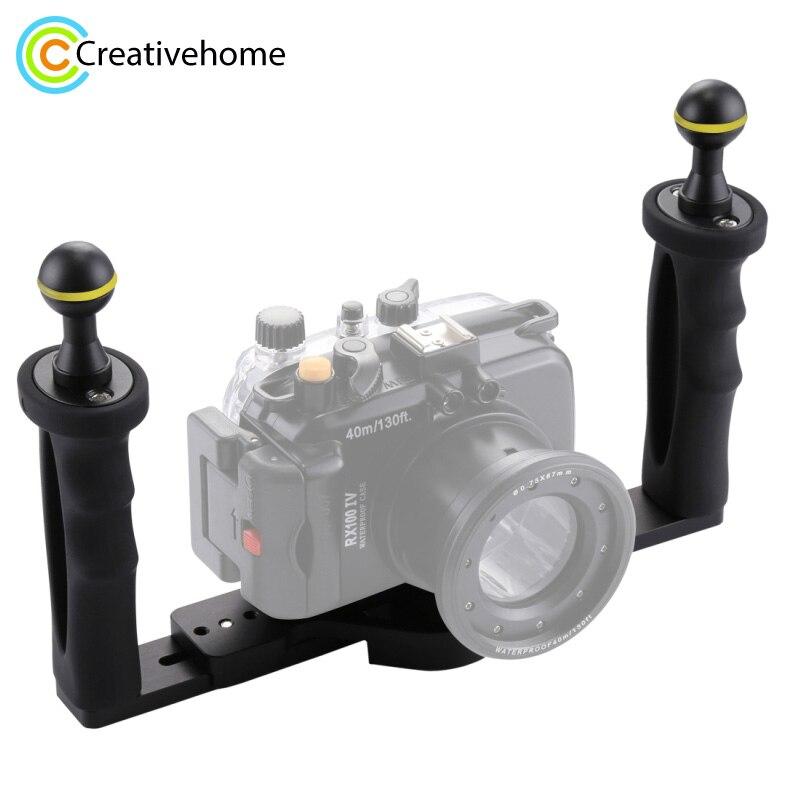PULUZ ручной Ручка Стабилизатор Rig подводный дайвинг стабилизатор лоток крепление светодио дный свет для Gopro камера SJCAM