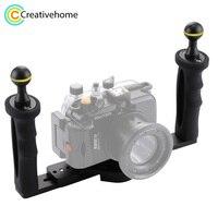 PULUZ Handheld Handle Hand Grip Stabilizer Rig Underwater Scuba Diving Stabilizer Tray Mount LED Light for Gopro Camera SJCAM
