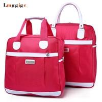 High capacity Handbag,Shoulder Travel bag, Women Oxford cloth Duffle bags,Portable cabin Luggage Suitcase
