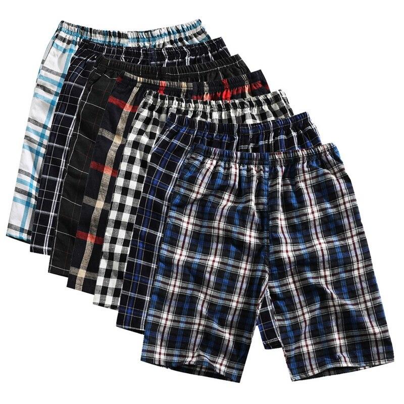 CALOFE Printed Shorts Pattern Summer Casual New Plaid Classic Homewear Loose Comfortable