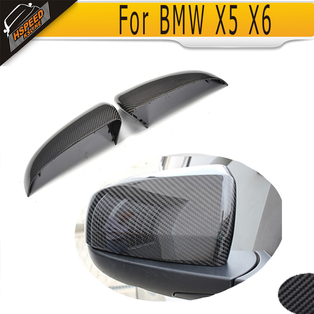 Carbon Fiber car side mirror covers for BMW X5 E70 2007 - 2012 X6 E71 E72 2008 - 2014 NOT fit X5M or X6M