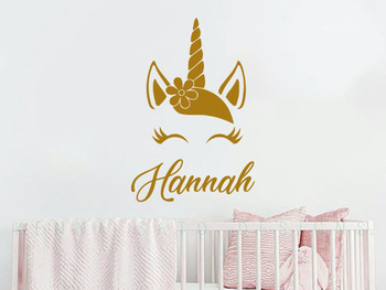 Unicorn Wall Decal for Kids Rooms
