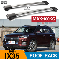 SHITURUI 2Pcs Roof bars For HYUNDAI ix35 2018 2019 Aluminum Alloy Side Bars Cross Rails Roof Rack Luggage