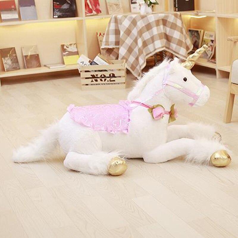 Nooer Unicorn Stuffed Plush Toy Large 1m Stuffed Unicorn Animal