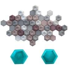 1PCS Hexagon Geometric Wall Concrete Wall Molds