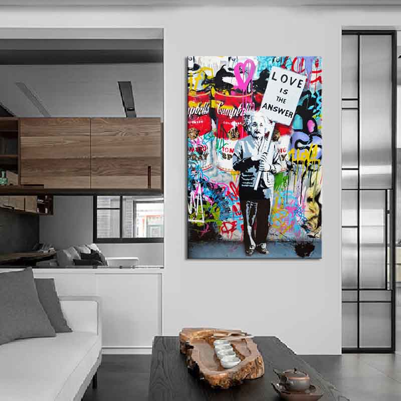 1-STKS-Banksy-Art-liefde-Is-Het-Antwoord-Wall-Art-Grote-Kleurrijke-Graffiti-Straat-Kunstwerk-Een (2)