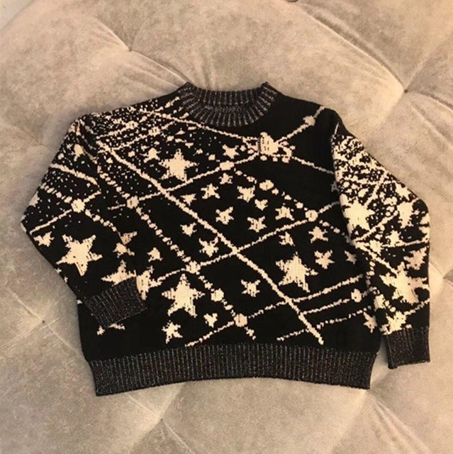 7c8afde28b83 90 150cm Winter Baby Girls and Boys Galaxy Pullover Cashmere ...